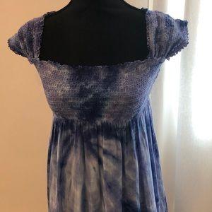 Hard Tail Blue Tye Dye Dress. size M (Very Small)